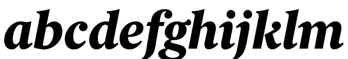 Berlingske Serif Text Extra Bold Italic Font LOWERCASE