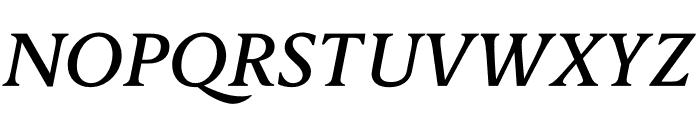 Berlingske Serif Text Medium Italic Font UPPERCASE