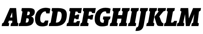 Berlingske Slab Condensed Black Italic Font UPPERCASE