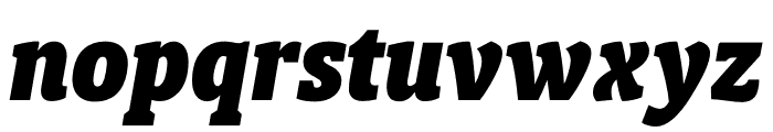 Berlingske Slab Condensed Black Italic Font LOWERCASE