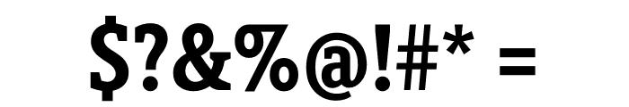 Berlingske Slab Condensed Bold Font OTHER CHARS