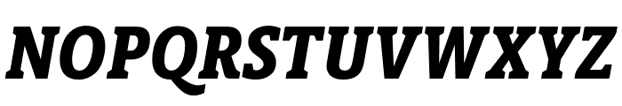 Berlingske Slab Condensed Extra Bold Italic Font UPPERCASE