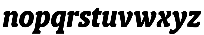 Berlingske Slab Condensed Extra Bold Italic Font LOWERCASE