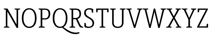 Berlingske Slab Condensed Light Font UPPERCASE