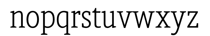 Berlingske Slab Condensed Light Font LOWERCASE