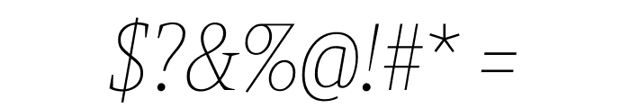 Berlingske Slab Condensed Thin Italic Font OTHER CHARS