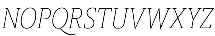 Berlingske Slab Condensed Thin Italic Font UPPERCASE