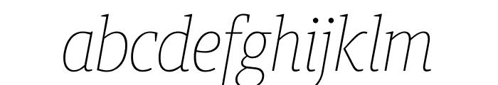 Berlingske Slab Condensed Thin Italic Font LOWERCASE