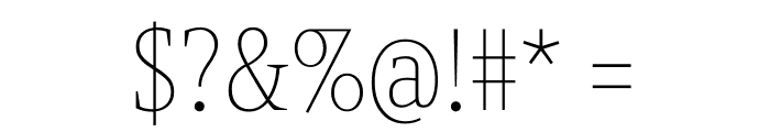Berlingske Slab Condensed Thin Font OTHER CHARS