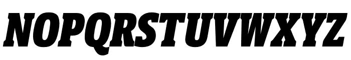 Berlingske Slab Display Black Italic Font UPPERCASE