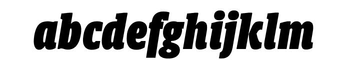 Berlingske Slab Display Black Italic Font LOWERCASE