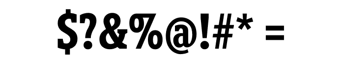 Berlingske Slab Display Bold Font OTHER CHARS