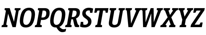 Berlingske Slab Display Demi Bold Italic Font UPPERCASE