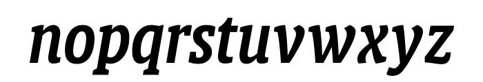 Berlingske Slab Display Demi Bold Italic Font LOWERCASE