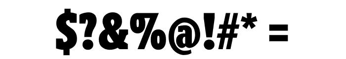 Berlingske Slab Extra condensed Black Font OTHER CHARS