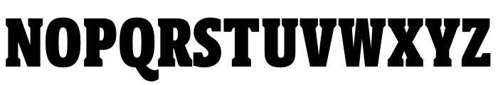 Berlingske Slab Extra condensed Black Font UPPERCASE