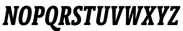 Berlingske Slab Extra condensed Bold Italic Font UPPERCASE