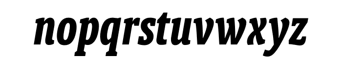 Berlingske Slab Extra condensed Bold Italic Font LOWERCASE