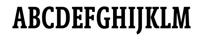 Berlingske Slab Extra condensed Demi Bold Font UPPERCASE
