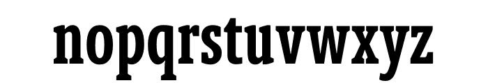 Berlingske Slab Extra condensed Demi Bold Font LOWERCASE
