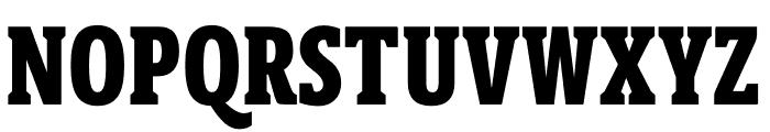 Berlingske Slab Extra condensed Extra Bold Font UPPERCASE