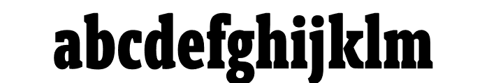 Berlingske Slab Extra condensed Extra Bold Font LOWERCASE