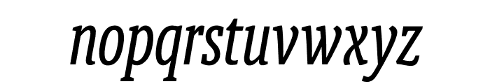 Berlingske Slab Extra condensed Italic Font LOWERCASE