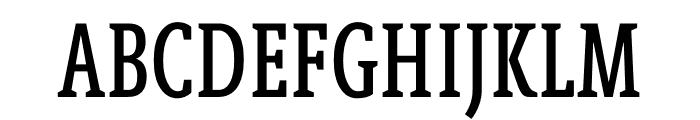 Berlingske Slab Extra condensed Medium Font UPPERCASE
