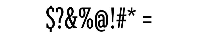 Berlingske Slab Extra condensed Regular Font OTHER CHARS