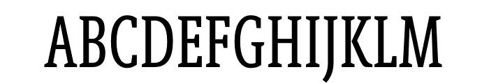 Berlingske Slab Extra condensed Regular Font UPPERCASE