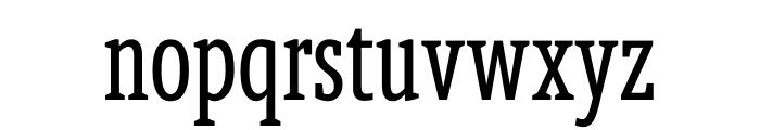 Berlingske Slab Extra condensed Regular Font LOWERCASE