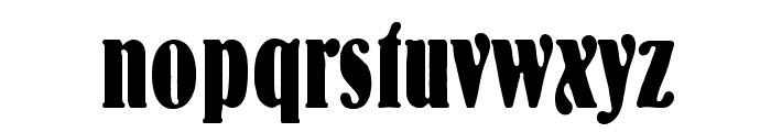 BernhardStd-BoldCondensed Font LOWERCASE