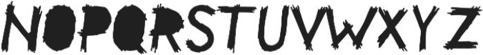 Be Afraid Alternative otf (400) Font LOWERCASE