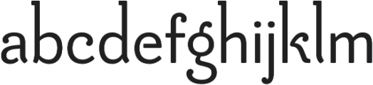 Be Creative otf (600) Font LOWERCASE