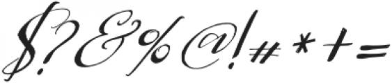Be Grateful Slant otf (400) Font OTHER CHARS