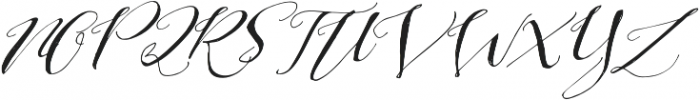 Be Grateful Slant otf (400) Font UPPERCASE