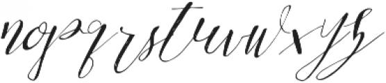 Be Grateful Slant otf (400) Font LOWERCASE