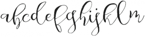 Be Grateful otf (400) Font LOWERCASE