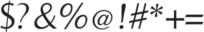 Bearings Light Italic otf (300) Font OTHER CHARS