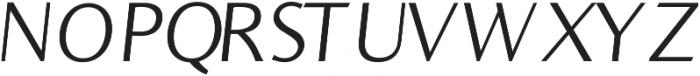 Bearings Light Italic otf (300) Font UPPERCASE