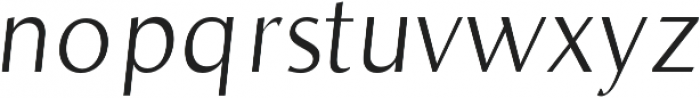 Bearings Light Italic otf (300) Font LOWERCASE