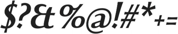 Beatrix Antiqua SemiBold Italic otf (600) Font OTHER CHARS