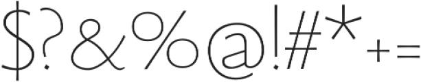 Beatrix Antiqua Thin otf (100) Font OTHER CHARS