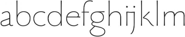 Beatrix Antiqua Thin otf (100) Font LOWERCASE