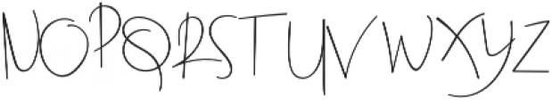 Beatrix Signature Regular otf (400) Font UPPERCASE