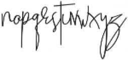 Beatrix Signature Regular otf (400) Font LOWERCASE
