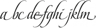BeaurivageTwo otf (400) Font LOWERCASE