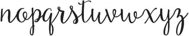 Beautiful Day otf (400) Font LOWERCASE