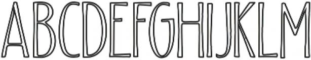 Beautiful Friday 04 Inline Regular otf (400) Font UPPERCASE