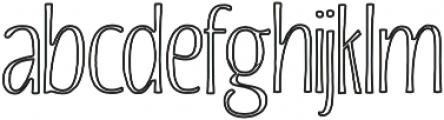 Beautiful Friday 04 Inline Regular otf (400) Font LOWERCASE